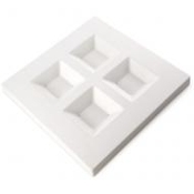 Soft Edge Four Square Platter 8342
