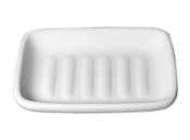 1028-Ribbed Soap Dish