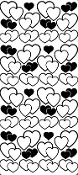 Pair Of Hearts Etching Resist Sticker