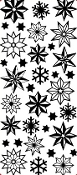 Christmas Stars Etching Resist Sticker