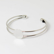 Silver Plated Bracelet 20mm Base
