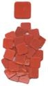 Wasser Fusible (1/4'') 25 Orange/Red Squares