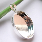 Silver Plated Pendants Round