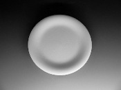 B2323 - Coupe Bread Plate 6''R