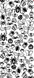Creepy Crawlies Etching Resist Sticker