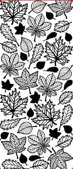 Autumn Leaves Etching Resist Sticker