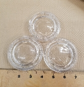 Vintage X-Clear Glass Circles 3.25''