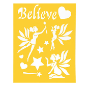 8.5'' x 11''Believe/Fairy Theme