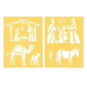 8.5'' x 11''Nativity Scene - 2 pieces
