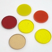 1-inch Warm Colors Circle Shapes FW953