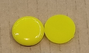 Opalescent 90coe 1''x3mm Circle Bright Yellow
