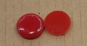 Opalescent 90coe 1''x3mm Circle Orange Red