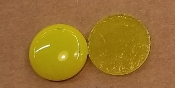 Opalescent 90coe 1''x3mm Circle Yellow