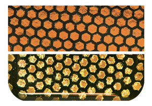 Dichroic Honeycomb Orange 90 COE FW814