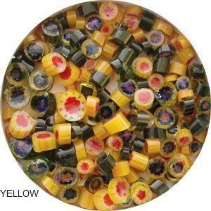 Millefiori Yellow 90coe-1oz.